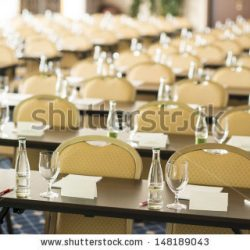 stock photo congress room is ready for indoor business conference 148189043